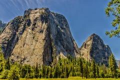 национальный парк yosemite купола половинный Стоковое Изображение RF