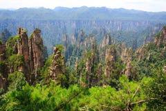Национальный парк Zhangjiajie, горы воплощения Стоковые Изображения RF