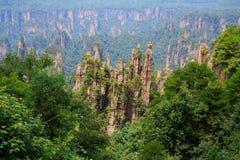Национальный парк Zhangjiajie, горы воплощения Стоковые Изображения