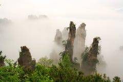 Национальный парк Zhangjiajie, горы воплощения Стоковые Фотографии RF