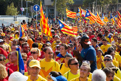 Национальный праздник Каталонии в Барселоне, Испании Стоковые Фотографии RF