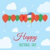 Национальный праздник Центральноафриканской Республики плоский иллюстрация штока