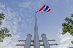 Национальный тайский флаг Стоковое Фото
