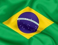 Национальный флаг Бразилии стоковая фотография