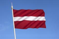 Национальный флаг Латвии - балтийских стран Стоковое Фото