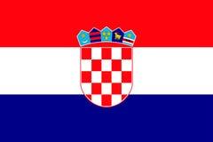 Национальный флаг республики Хорватии Стоковое Изображение