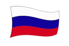 Национальный флаг Россия Стоковые Фотографии RF