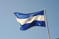 Национальный флаг Сальвадора Стоковое Изображение RF