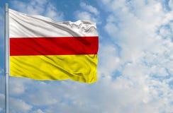 Национальный флаг северного Ossetia Стоковое фото RF