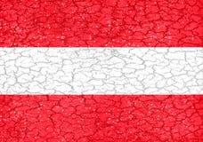 Национальный флаг стиля Grunge Австрии Стоковое фото RF