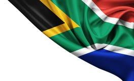Национальный флаг Южно-Африканской Республики Стоковое Изображение RF