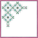 Национальный moldavian перекрестный орнамент эскиза Стоковые Изображения RF