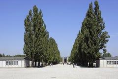 Нацистский концентрационный лагерь в Dachau, Баварии Стоковая Фотография RF