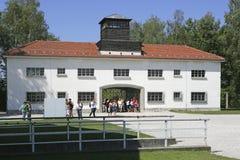 Нацистский концентрационный лагерь в Dachau, Баварии Стоковые Фото