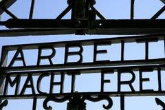Нацистский концентрационный лагерь в Dachau, Баварии Стоковое Изображение RF