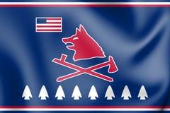 Нация Пауни флага Оклахомы иллюстрация вектора