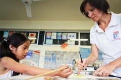 начальная школа бедных эквадора Стоковое фото RF