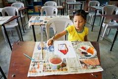 начальная школа бедных эквадора Стоковое Фото