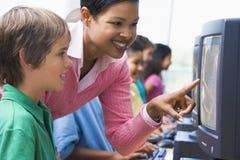 начальная школа компьютера типа Стоковые Изображения