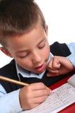 начальная школа мальчика Стоковое фото RF
