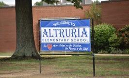 Начальная школа Bartlett Altruria, TN стоковая фотография rf