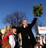 Начало кампании по выборам президента 'aw Komorowski BronisÅ Стоковые Фото