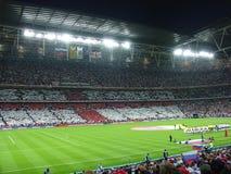 Начало футбольного матча. Стоковые Фотографии RF