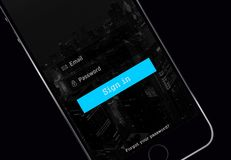 Начальный экран с паролем электронной почты Стоковые Фото