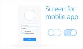 Начальный экран для передвижного app Стоковое Изображение RF