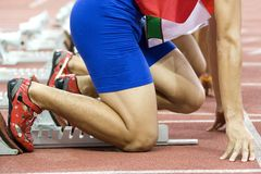 начинать спортсменов Стоковое Изображение RF