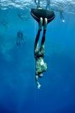 начинать freedive Стоковые Фотографии RF