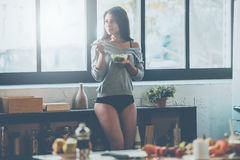 Начинающ день с здоровой едой Стоковое Изображение