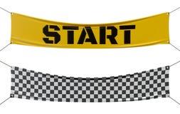 Начиная и заканчивая checkered линия знамена Стоковая Фотография