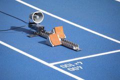 Начните блок спринтеров Стоковое фото RF