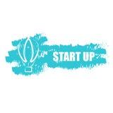 Начните вверх дело, компанию перехода логотипа идеи baloon воздуха Стоковое фото RF