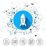 Начните вверх значок Startup знак ракеты дела Стоковое фото RF