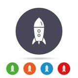 Начните вверх значок Startup знак ракеты дела Стоковое Изображение