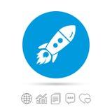 Начните вверх значок Startup знак ракеты дела Стоковые Фотографии RF