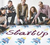 Начните вверх концепцию развития стратегии бизнеса старта стоковые изображения
