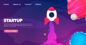 Начните вверх приземлиться страница Шаблоны дизайна интернет-страницы для запуска Вебсайт проектной модификации вектора 3d соврем иллюстрация вектора