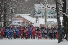 Начните гонку лыжи 1 стоковая фотография rf