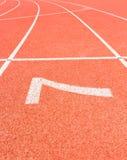 Начните линию тесемки Стоковое Изображение