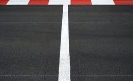 Начните и закончите линию цепь гонки Grand Prix асфальта Стоковые Изображения