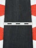 Начните и закончите линию цепь гонки Grand Prix текстуры асфальта Стоковые Фото