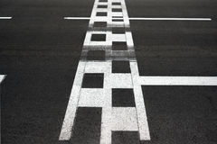 Начните и закончите линию цепь гонки Монако Grand Prix асфальта Стоковые Изображения RF