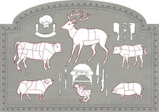 начните мясо вырезывания иллюстрация вектора