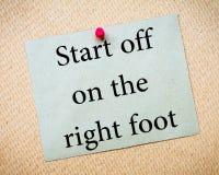 Начните на правой ступне Стоковые Фото