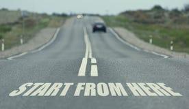 Начните новый путь справедливо здесь Выбранный фокус тонизировано Стоковые Фото
