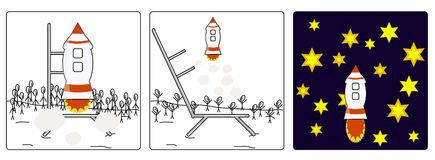 Начните ракеты Стоковое Фото
