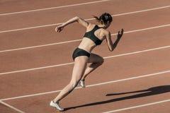 Начните спортсменов девушки Стоковые Изображения